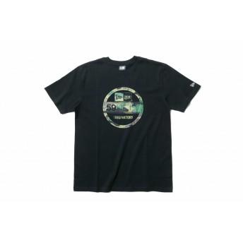 NEW ERA ニューエラ コットン Tシャツ ウッドランドカモ バイザーステッカー ブラック 半袖 ウェア メンズ レディース Small 11556777 NEWERA