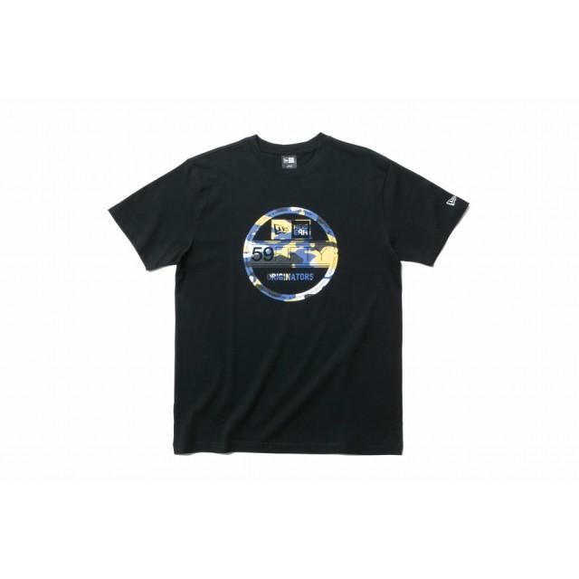 【ニューエラ公式】 コットン Tシャツ カラーカモ バイザーステッカー ブラック メンズ レディース Large 半袖 Tシャツ 11901402 NEW ERA