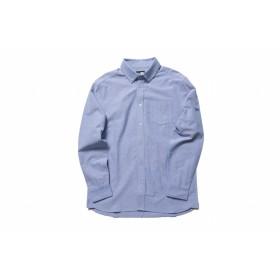 NEW ERA ニューエラ 長袖 ボタンダウンシャツ オックスフォード ライトブルー ウェア メンズ レディース Large 11783100 NEWERA
