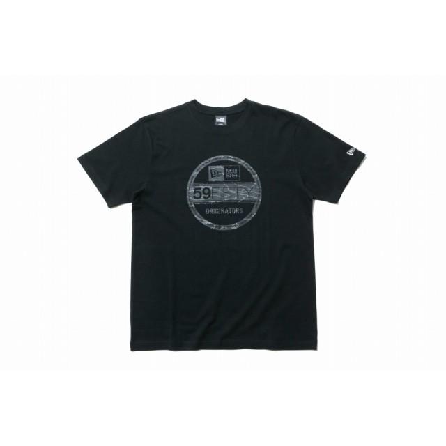 【ニューエラ公式】 コットン Tシャツ タイガーストライプラインカモ バイザーステッカー ブラック メンズ レディース Small 半袖 Tシャツ 11901377 NEW ERA