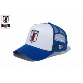 【ニューエラ公式】 9FORTY A-Frame トラッカー サッカー日本代表 ver. (ホワイト/ブルー・11599575) メンズ レディース 56.8 - 60.6cm キャップ 帽子 11599575 コラボ NEW ERA メッシュ