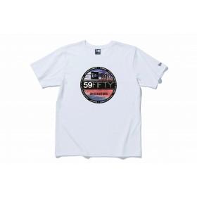 【ニューエラ公式】 ストア限定 コットン Tシャツ バイザーステッカー 浮世絵 葛飾北斎 凱風快晴 ホワイト メンズ レディース Large 半袖 Tシャツ 11601149 NEW ERA