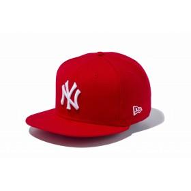【ニューエラ公式】 9FIFTY ニューヨーク・ヤンキース スカーレット × ホワイト メンズ レディース 57.7 - 61.5cm MLB キャップ 帽子 11308464 NEW ERA