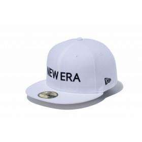 【ニューエラ公式】 59FIFTY NEW ERA ホワイト × ブラック メンズ レディース 7 (55.8cm) キャップ 帽子 12037932 NEW ERA