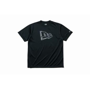 【ニューエラ公式】 Performance Apparel テック Tシャツ ニューエラフラッグ ブラック × タイガーストライプカモブラック メンズ レディース Small 半袖 Tシャツ 12026638 NEW ERA