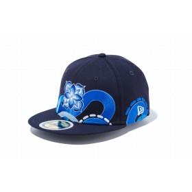 【ニューエラ公式】キッズ 59FIFTY HITOTZUKI HTZK CLASSIC ネイビー 男の子 女の子 6 3/4 (53.9cm) キャップ 帽子 11909151 コラボ NEW ERA