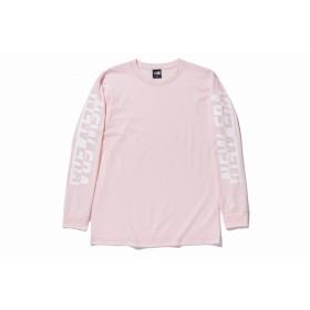 【ニューエラ公式】 長袖 コットン Tシャツ NEW ERA スリーブ パステルピンク メンズ レディース Medium 長袖 Tシャツ 12031538 NEW ERA