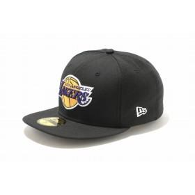 NEW ERA ニューエラ 59FIFTY NBA ロサンゼルス・レイカーズ ブラック × チームカラー ベースボールキャップ キャップ 帽子 メンズ レディース 7 (55.8cm) 11308590 NEWERA