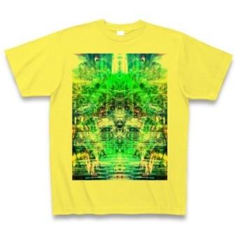 シンジダイ◆アート文字◆ロゴ◆ヘビーウェイト◆半袖◆Tシャツ◆イエロー◆各サイズ選択可