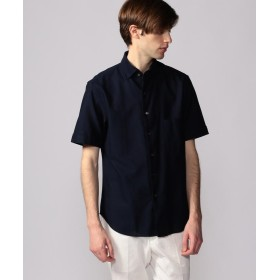 トゥモローランド コットンカラミ ワンピースカラー半袖シャツ メンズ 69ネイビー XS 【TOMORROWLAND】