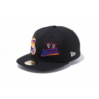 NEW ERA ニューエラ 59FIFTY ニグロリーグ カンザスシティー・モナークス ニューアーク・イーグルス ブラック × チームカラー ベースボールキャップ キャップ 帽子 メンズ レディース 7 1/2 (59.6cm) 11907014 NEWERA