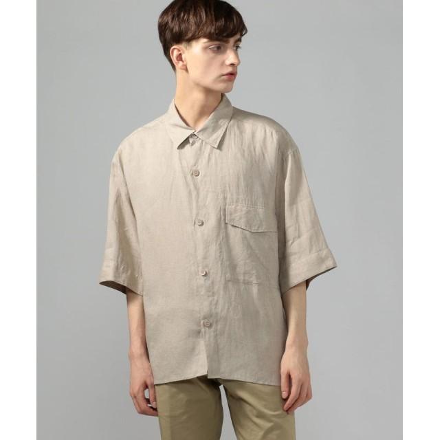 トゥモローランド 80リネン ショートスリーブシャツ メンズ 41ライトベージュ 46 【TOMORROWLAND】