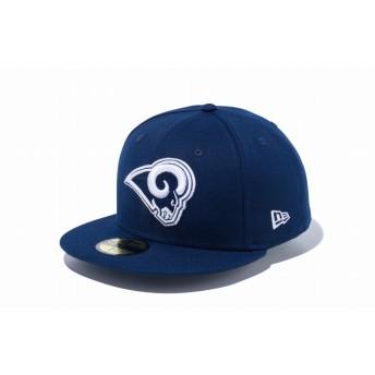 NEW ERA ニューエラ 59FIFTY NFL ロサンゼルス・ラムズ オーシャンサイドブルー × チームカラー ベースボールキャップ キャップ 帽子 メンズ レディース 7 (55.8cm) 12019017 NEWERA