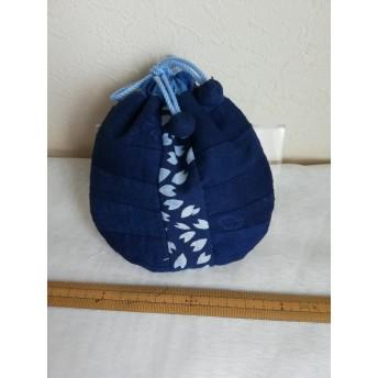 藍染の巾着 C