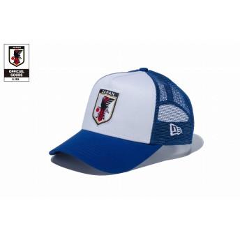 NEW ERA ニューエラ キッズ 9FORTY A-Frame トラッカー サッカー日本代表 ver. (ホワイト/ブルー・11599565) アジャスタブル サイズ調整可能 ベースボールキャップ キャップ 帽子 男の子 女の子 52 - 55.8cm 11599565 NEWERA メッシュキャップ