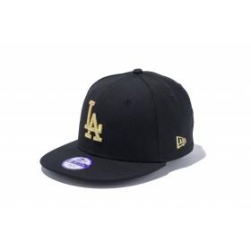 【ニューエラ公式】キッズ 9FIFTY ロサンゼルス・ドジャース ブラック × ゴールド 男の子 女の子 52 - 55.8cm MLB キャップ 帽子 11308492 NEW ERA