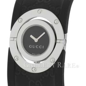 グッチ トワール ラージ YA112420 GUCCI 腕時計 クォーツ レディース GG柄 SS/ラバー Twirl