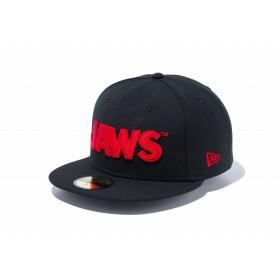 【ニューエラ公式】 59FIFTY JAWS ジョーズ タイトルロゴ ブラック メンズ レディース 7 (55.8cm) キャップ 帽子 11909233 コラボ NEW ERA