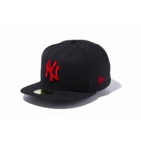 訳あり大特価!ニューエラ(NEW ERA) 59FIFTY MLB ニューヨーク・ヤンキース ブラック × レッド 11308578(5)