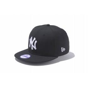 【ニューエラ公式】キッズ 9FIFTY ニューヨーク・ヤンキース ブラック × ホワイト 男の子 女の子 52 - 55.8cm MLB キャップ 帽子 11308487 NEW ERA
