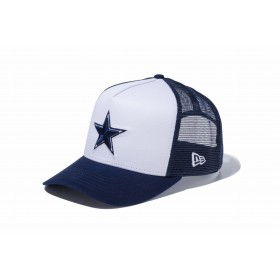 【ニューエラ公式】 9FORTY D-Frame トラッカー ダラス・カウボーイズ ホワイト × チームカラー メンズ レディース 55.8 - 59.6cm NFL キャップ 帽子 11434244 NEW ERA メッシュキャップ