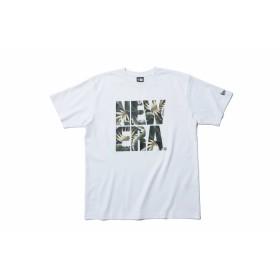【ニューエラ公式】 パフォーマンス Tシャツ ボタニカル ビッグニューエラ ホワイト × ネイビーボタニカル メンズ レディース Small 半袖 Tシャツ 11901343 NEW ERA