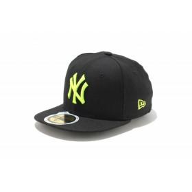 【ニューエラ公式】キッズ 59FIFTY ニューヨーク・ヤンキース ブラック × ネオンイエロー 男の子 女の子 6 1/2 (52cm) MLB キャップ 帽子 11310409 NEW ERA