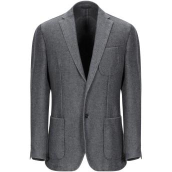 《期間限定セール開催中!》LUIGI BIANCHI ROUGH メンズ テーラードジャケット 鉛色 50 バージンウール 55% / ナイロン 45%
