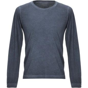 《セール開催中》CROSSLEY メンズ T シャツ ブルーグレー S コットン 100%