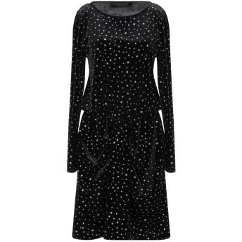 《セール開催中》ANNA RACHELE BLACK LABEL レディース ミニワンピース&ドレス ブラック 40 ポリエステル 92% / ポリウレタン 8%