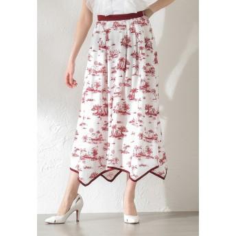 LOVELESS 【LOVELESS】WOMEN Toile du Jouy マキシスカート その他 スカート,レッド