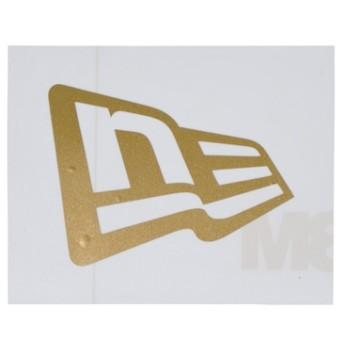 ニューエラステッカー ダイカット フラッグロゴ S ゴールド