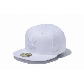 NEW ERA ニューエラ 59FIFTY MLB ニューヨーク・ヤンキース ホワイト × ホワイト ベースボールキャップ キャップ 帽子 メンズ レディース 7 (55.8cm) 11308530 NEWERA