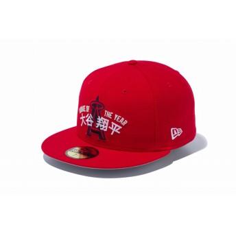 NEW ERA ニューエラ 59FIFTY 大谷翔平 新人王 ロサンゼルス・エンゼルス レッド ベースボールキャップ キャップ 帽子 メンズ レディース 7 (55.8cm) 12109487 NEWERA