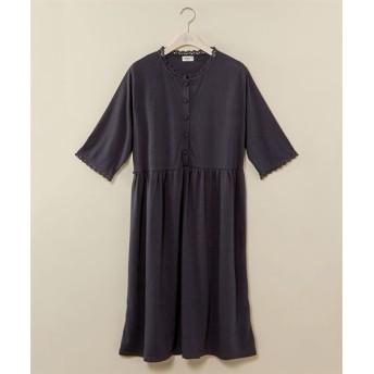 ウエスト切替ギャザーワンピース 薄手素材【maca】 (大きいサイズレディース)ワンピース, plus size dress