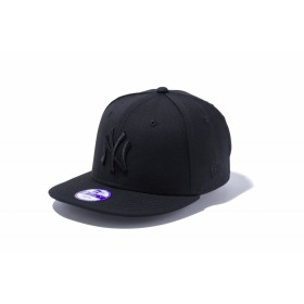 【ニューエラ公式】キッズ 9FIFTY ニューヨーク・ヤンキース ブラック × ブラック 男の子 女の子 52 - 55.8cm MLB キャップ 帽子 11308375 NEW ERA