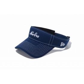【ニューエラ公式】 ゴルフ WOMEN'S サンバイザー ストレッチコットン ウォッシャブル New Eraオールドロゴ ネイビー × ホワイト メンズ レディース 55.8 - 59.6cm キャップ 帽子 11899088 NEW ERA