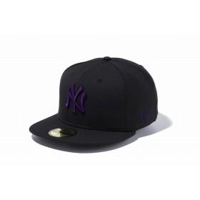 59FIFTY MLB ニューヨーク・ヤンキース ブラック × パープル