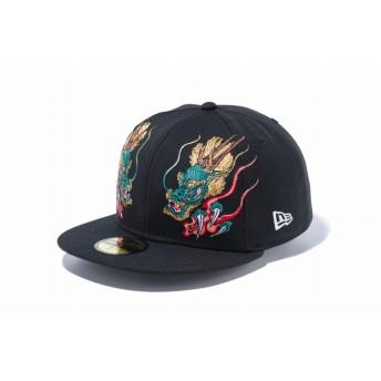 NEW ERA ニューエラ 59FIFTY 石川真澄 Masumi Ishikawa 龍 ブラック ベースボールキャップ キャップ 帽子 メンズ レディース 7 (55.8cm) 11909229 NEWERA