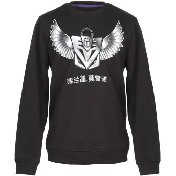 《9/20まで! 限定セール開催中》FRANKIE MORELLO メンズ スウェットシャツ ブラック XS コットン 100%