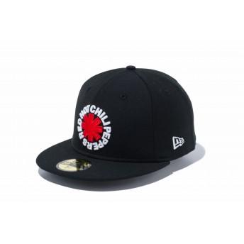【ニューエラ公式】 59FIFTY Red Hot Chili Peppers ロゴ ブラック メンズ レディース 7 (55.8cm) キャップ 帽子 11797165 コラボ NEW ERA