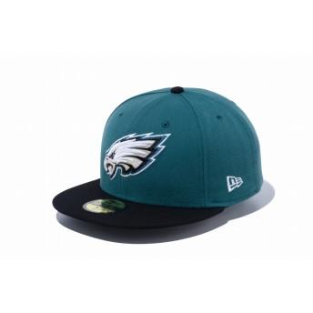 NEW ERA ニューエラ 59FIFTY NFL フィラデルフィア・イーグルス パインニードル・グリーン × チームカラー ベースボールキャップ キャップ 帽子 メンズ レディース 7 (55.8cm) 12019011 NEWERA