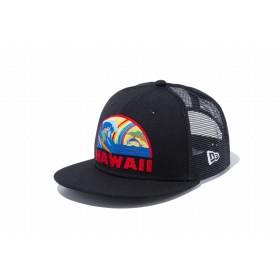 【ニューエラ公式】キッズ 9FIFTY トラッカー ハワイ オーシャンリゾート ブラック 男の子 女の子 52 - 55.8cm キャップ 帽子 12028716 NEW ERA