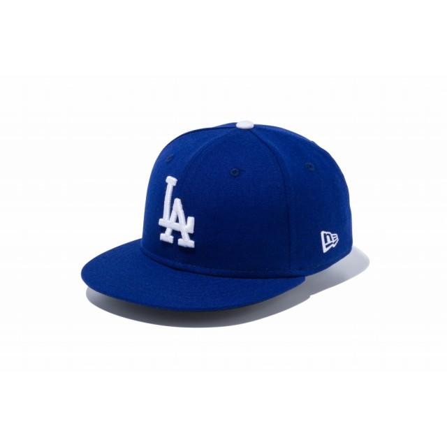 NEW ERA ニューエラ キッズ 9FIFTY ロサンゼルス・ドジャース ダークロイヤル × ホワイト スナップバックキャップ アジャスタブル サイズ調整可能 ベースボールキャップ キャップ 帽子 男の子 女の子 52 - 55.8cm 12018878 NEWERA