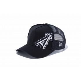 【ニューエラ公式】キッズ 9FORTY A-Frame トラッカー Battalion ロサンゼルス・エンゼルス ブラック × ホワイト 男の子 女の子 52 - 55.8cm MLB キャップ 帽子 12018918 NEW ERA メッシュキャップ