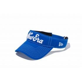 【ニューエラ公式】 ゴルフ サンバイザー ストレッチコットン ウォッシャブル New Eraオールドロゴ ブルーアズール × ホワイト メンズ レディース 55.8 - 59.6cm キャップ 帽子 11899101 NEW ERA