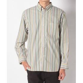 (Ciaopanic/チャオパニック)マルチストライプBDシャツ/メンズ グリーン