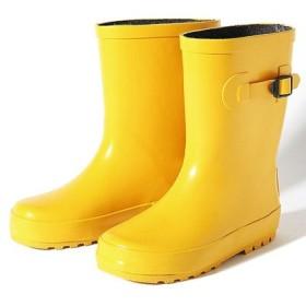 (devirock/デビロック)キッズラバーレインブーツ 長靴 雨靴/ユニセックス イエロー