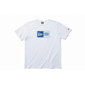 【ニューエラ公式】 コットン Tシャツ ボックスロゴ ホワイト × ブルー メンズ レディース X-Large 半袖 Tシャツ 11901411 NEW ERA