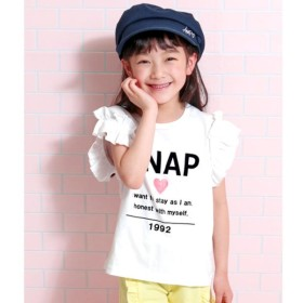 [マルイ]【セール】フリル袖シンプルロゴTOPS/アナップキッズ&ガール(ANAP KIDS&GIRL)